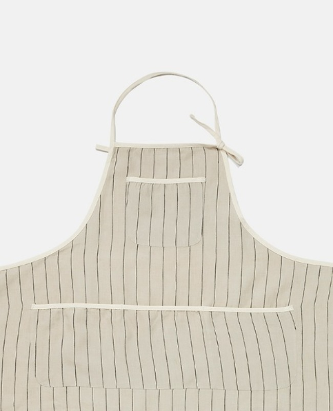 Trimming Apron: Gray Stripe